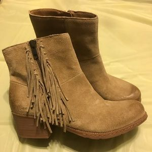 B.O.C Women's Elise Taupe Suede Ankle Boots